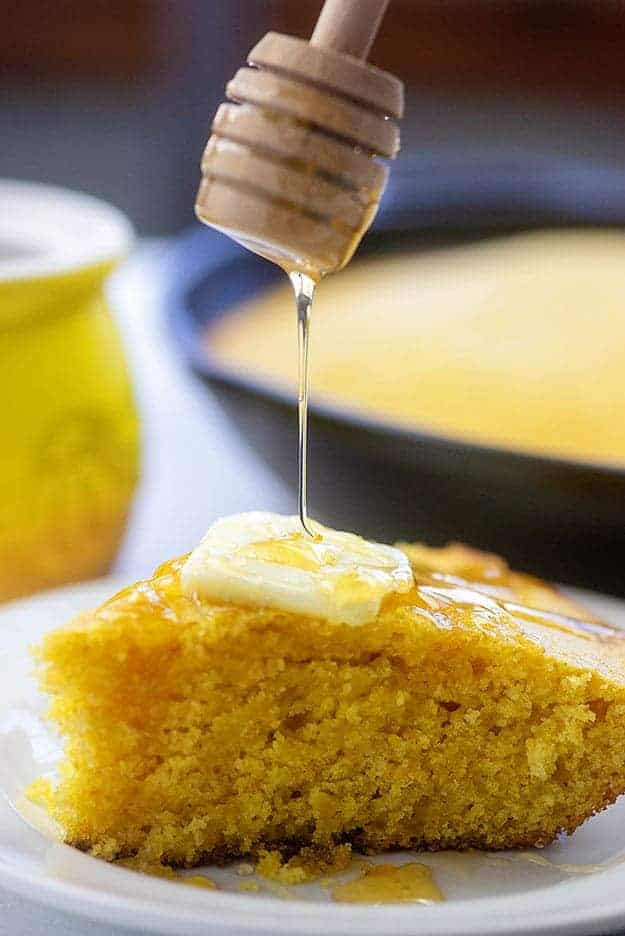 cornbread with honey and butter
