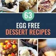 egg free desserts photo collage