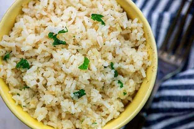 rice pilaf recipe in bowl