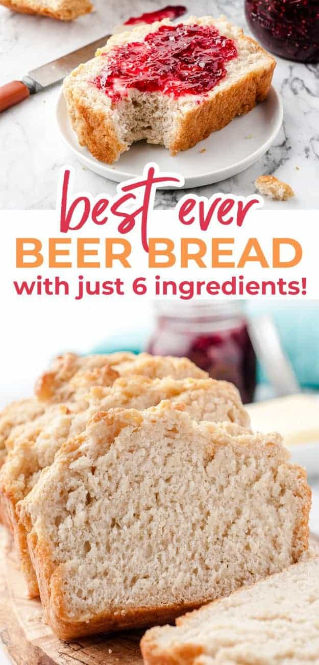 beer bread photo collage