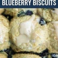 blueberry biscuit with glaze
