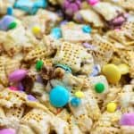 easter cereal bars in glass baking dish