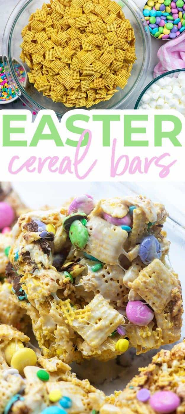 easter cereal bar collage
