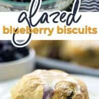 glazed blueberry biscuit photo collage