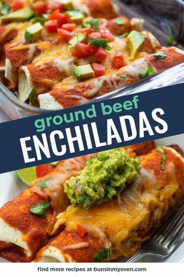 ground beef enchiladas photo collage