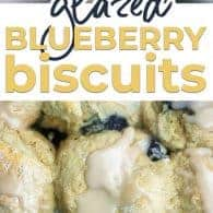 blueberry biscuit photo collage