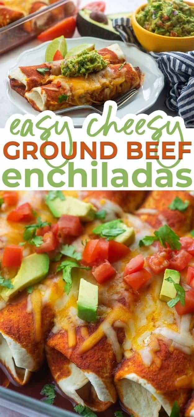 enchilada recipe photo collage
