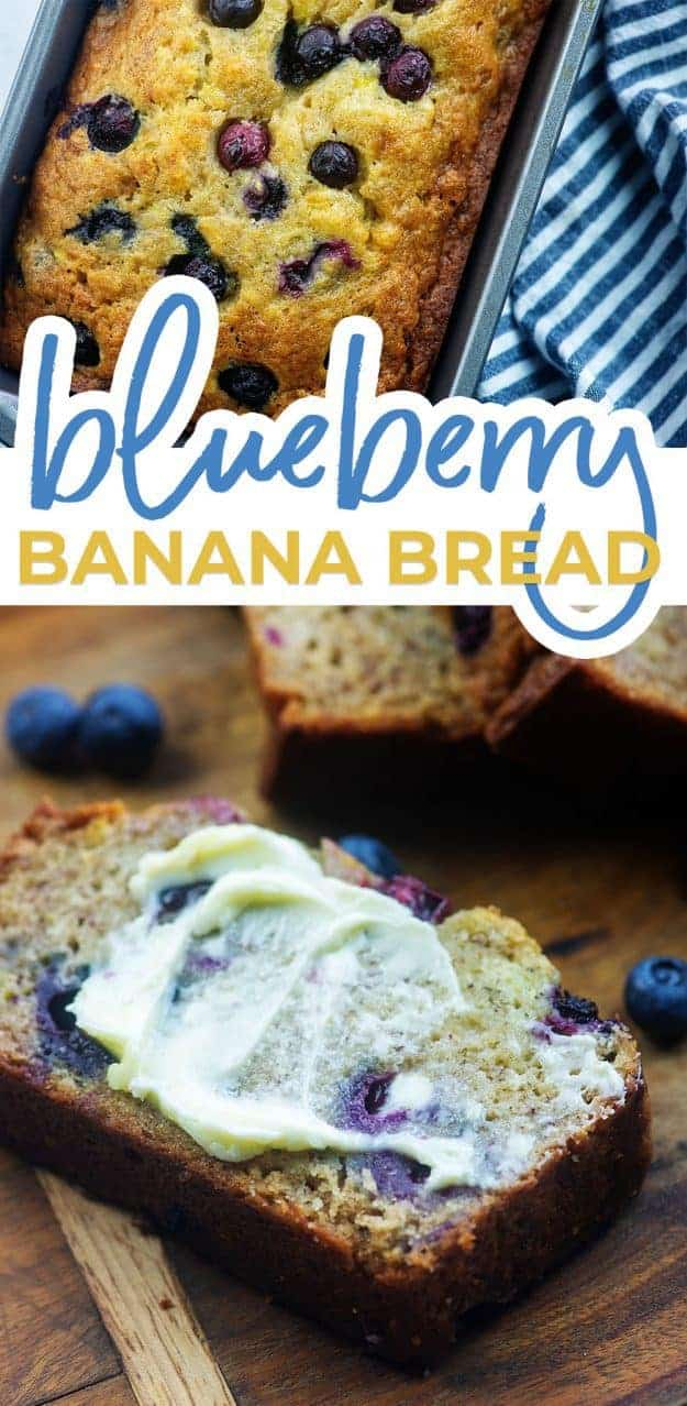 blueberry bread photo collage