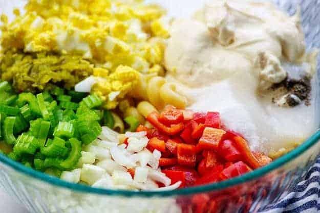 ingredients for amish macaroni salad
