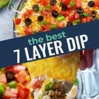 seven layer bean dip photo collage