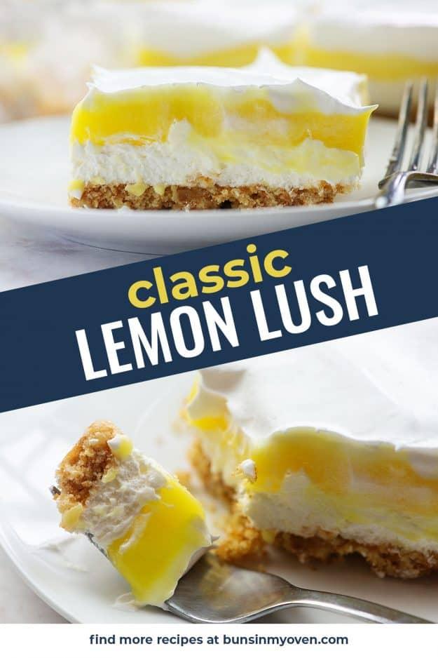lemon dessert recipe photo collage