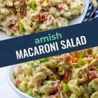 amish macaroni salad photo collage