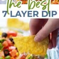 seven layer dip recipe photo collage