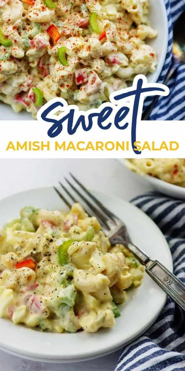 macaroni salad photo collage for pinterest
