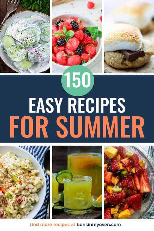 summer recipes photo collage for pinterest