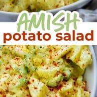 collage of potato salad photos