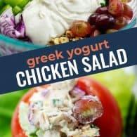 chicken salad recipe photo collage