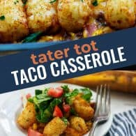 taco casserole photo collage for pinterest