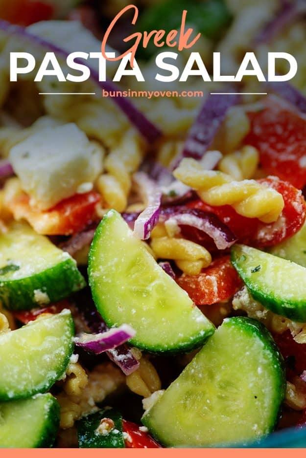 cucumbers in pasta salad