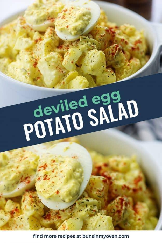 potato salad photo collage for pinterest