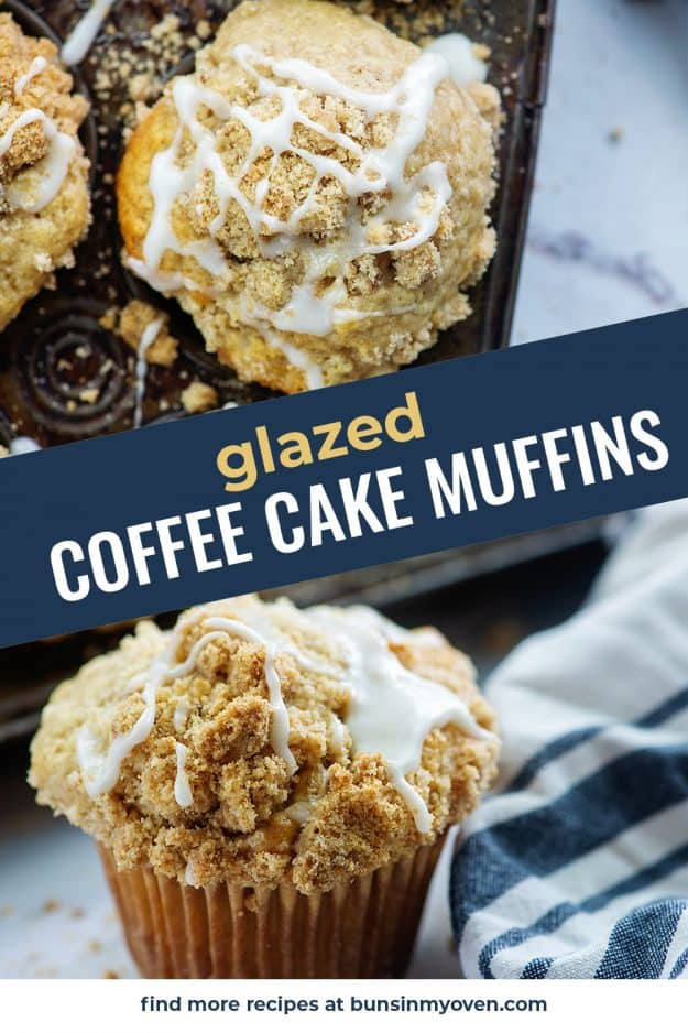 glazed muffins photo collage for pinterest