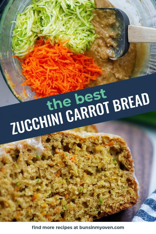 collage of zucchini bread images