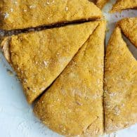 scones cut into wedges
