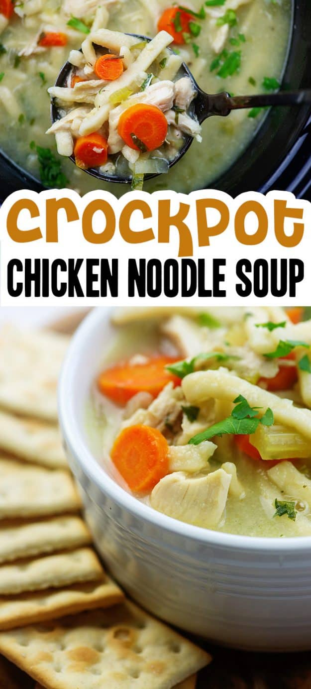 collage of chicken soup photos for pinterest
