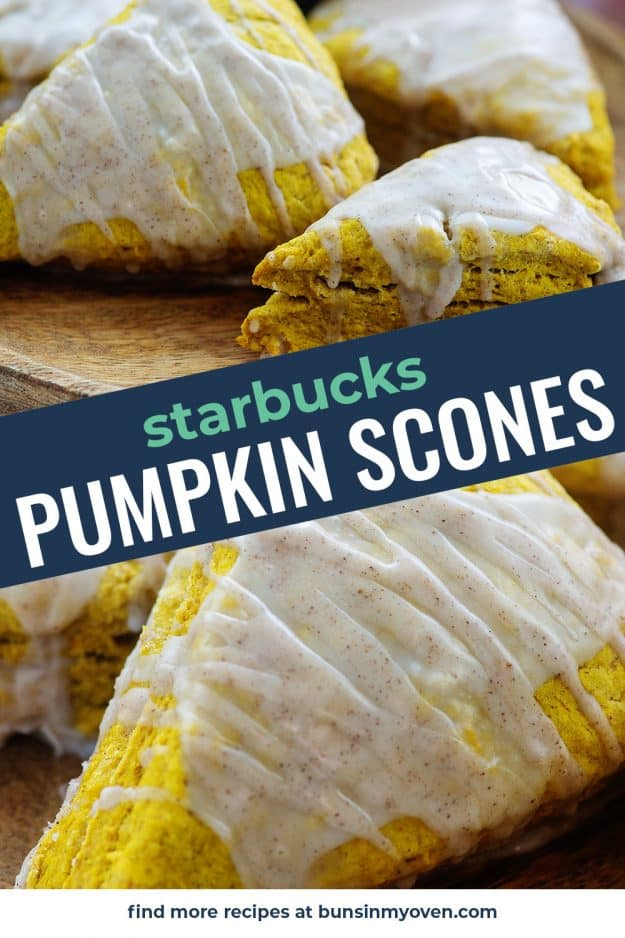 pumpkin scones topped with glaze
