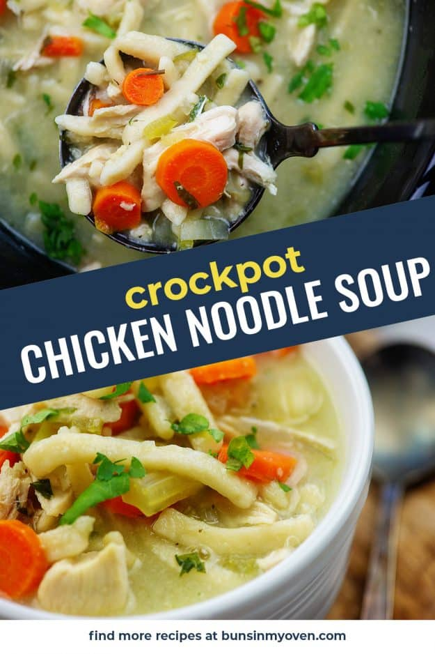 chicken noodle soup photo collage for pinterest