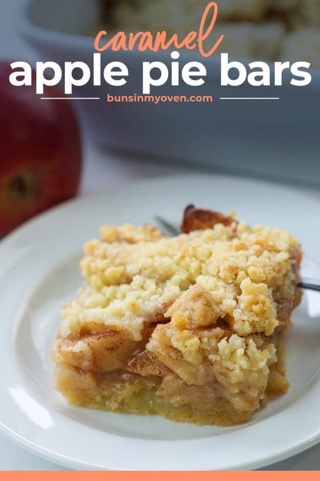 apple bars on white plate