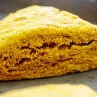 baked scone on baking sheet