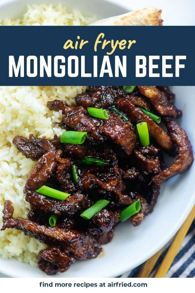 white rice and mongolian beef in white bowl