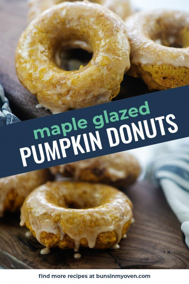 collage of pumpkin donut photos with text for pinterest