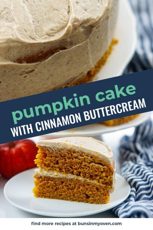 pumpkin cake photo collage.