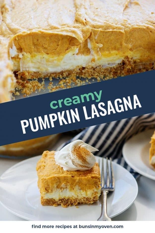 photo collage of pumpkin lasagna photos