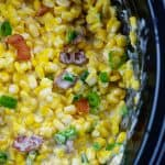 cheesy corn in crockpot with bacon.