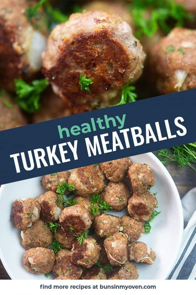 turkey meatball photo collage.