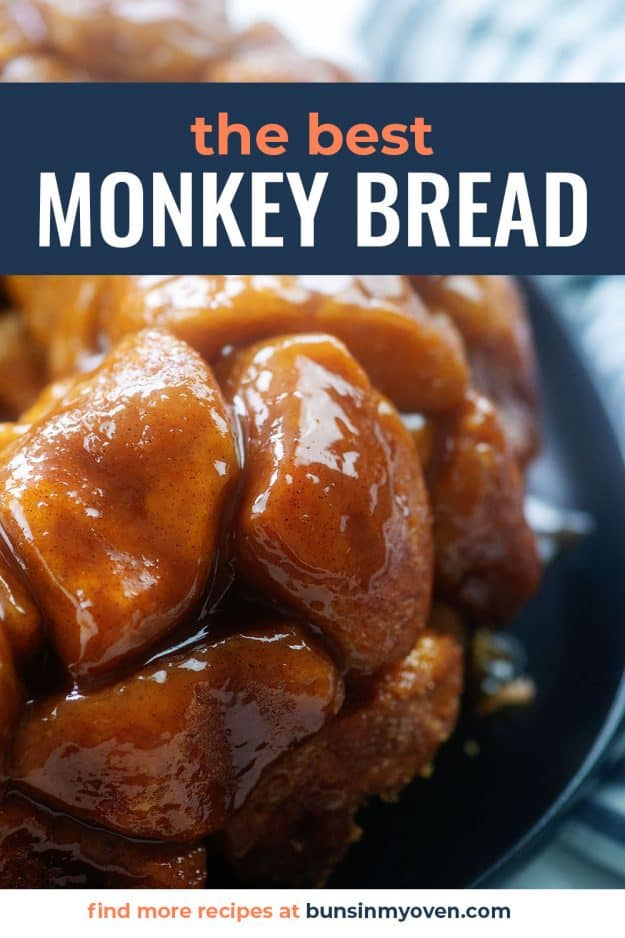 close up of monkey bread recipe.
