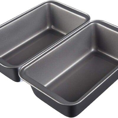 set of 2 metal loaf pans.