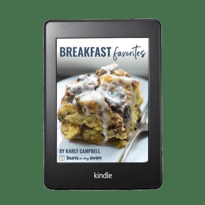 Breakfast Favorites ebook cover.