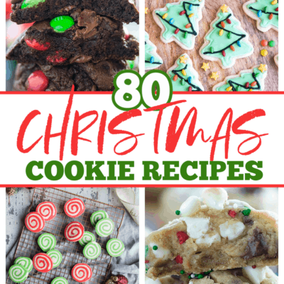 collage of Christmas cookie photos