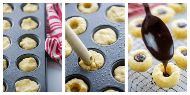 thumbprint cookie how to collage.