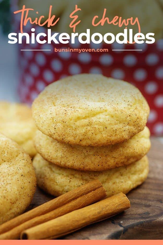 stack of snickerdoodle cookies.