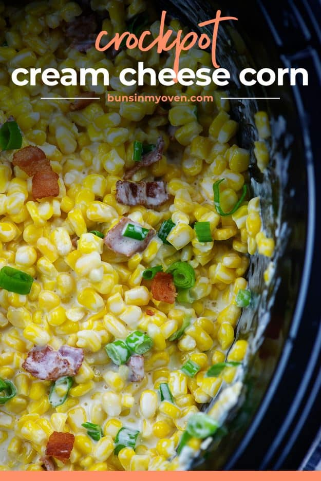 corn with green onions in crockpot