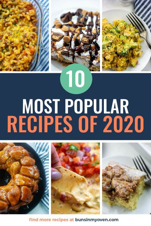 collage of the 10 most popular recipes from Buns In My Oven