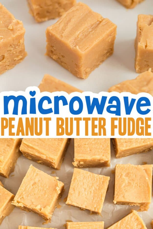 peanut butter fudge photo collage.