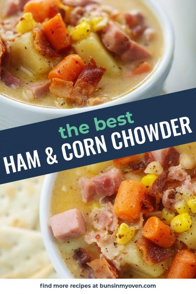 corn chowder collage.