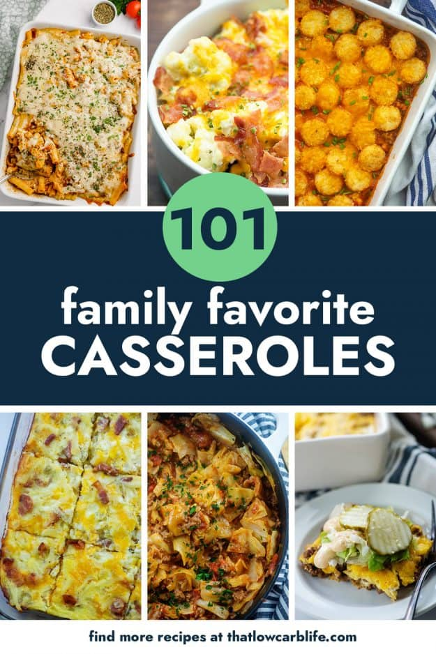 collage of casserole recipes