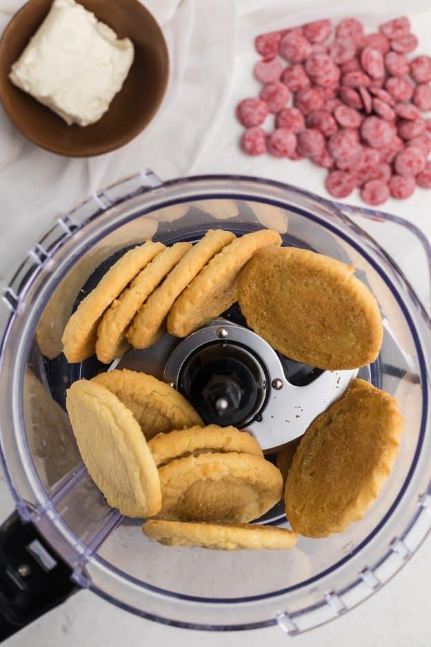 sugar cookies in food processor.